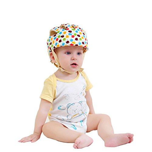 Per bambino protezione testa casco di sicurezza testa guardia cuscino con  cinghie protezione Cap imbracature cappello ... 22f2737fee80