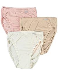 Jockey Women's Underwear Plus Size Elance French Cut - 3 Pack, white/pale cosmetic/pink shadow, 11