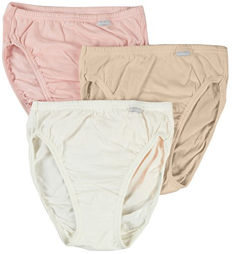 Jockey Women's Plus Size Elance¿ French Cut 3-Pack Ivory/Peach Powder/Rose Blush 8