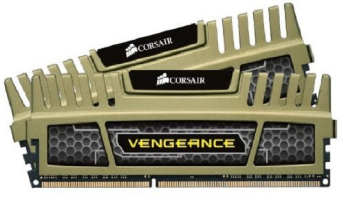 Corsair Vengeance - Kit de Memoria RAM de 8 GB (DDR3, 2 x 4 GB, 1600 MHz, CL9), Color Verde