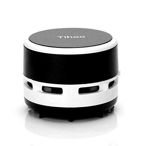 - Tihoo Mini Portable Desktop Dust Vacuum Cleaner Keyboard Laptop Table Multifunction Cleaning for Home Office Car (Black)