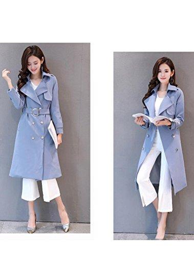 EUXS Habill Clair Tailles Grandes Longue Feminine MatchLife Trench Bleu Ceinture Coat Chaud 3XL Manteau Veste Femme zCagwqU