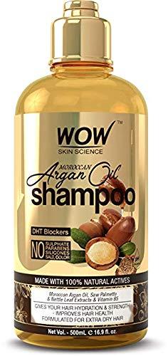 Amazon com : WOW Moroccan Argan Oil Shampoo With DHT Blockers