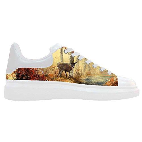 Dalliy kunst hirsch Mens Canvas shoes Schuhe Footwear Sneakers shoes Schuhe B