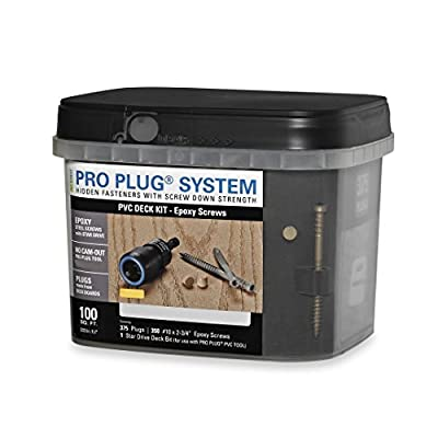 Pro Plug PVC Plugging System for AZEK Hazelwood Decking - Epoxy Steel - 350 pcs for 100 Sq. Ft.