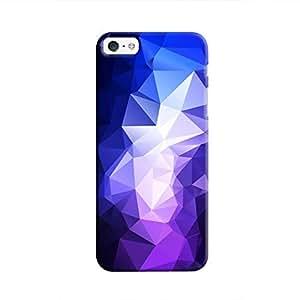 Cover It Up - Dark Purple Pixel Blue Triangles Apple iPhone SE Hard Case