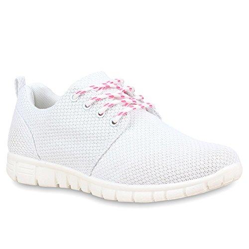Stiefelparadies - zapatilla baja Mujer Blanco - blanco