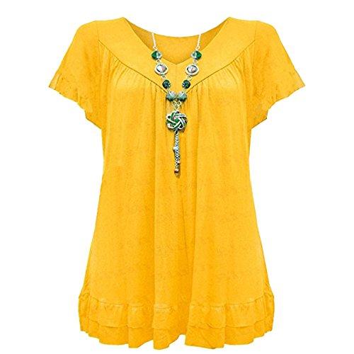 Yellow Corte Camicia Loose Inc Donna Vanilla Maniche ZTRIYwZqx