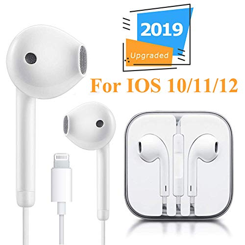 Earbuds Headphones Headset in-Ear Earphones with Microphone and Remote Control, Compatible with iPhone X/XS Max/XR/X/8 Plus/7 Plus Plug and Play