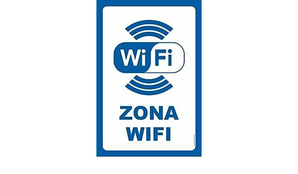 akrocard Cartel Resistente PVC - Zona WiFi: Amazon.es ...