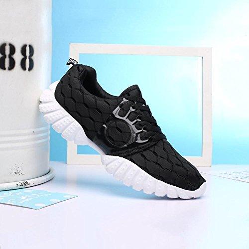 Scarpe da uomo scarpe da uomo scarpe da passeggio scarpe da sci Sneaker scarpe da passeggio scarpe da sci , Black , 40
