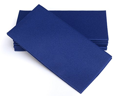 Simulinen Dinner Napkins - Disposable, Blue, Cloth-Like - Elegant, Yet Heavy Duty Soft, Absorbent & Durable - 16