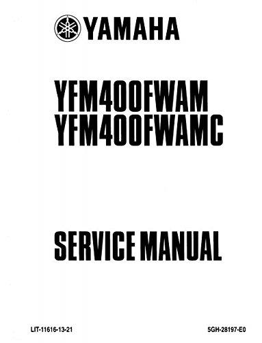 amazon com yamaha kodiak 400 yfm400 2000 2001 service manual cd rh amazon com yamaha kodiak 400 service manual free download yamaha kodiak 400 service manual pdf