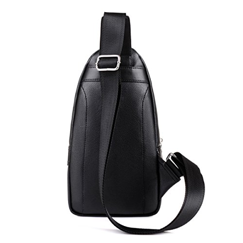 Bag Outdoor Chest 's Zipper Messenger Dark Men Black Fashion Sports Leisure Bags anEH7q0wx
