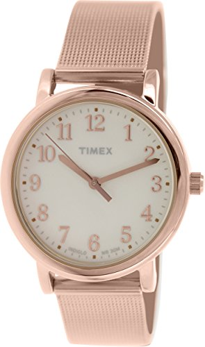 Timex Women's Originals T2P463 Rose-Gold Stainless-Steel Analog Quartz Watch with Beige Dial