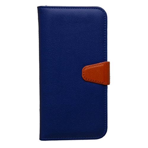 Galaxy J7 Case, Mama Mouth [DETACHABLE Feature] Folio Flip Hard Case [Stand View] Premium PU Leather [Wallet Case] Built-in Card / Cash Slots and Inner Pocket Cover For Samsung Galaxy J7,Blue