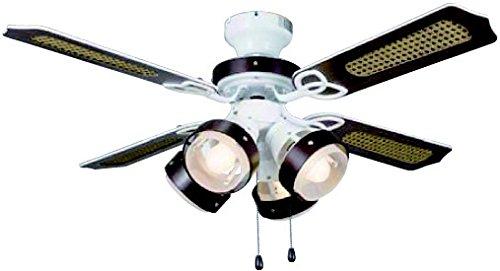 東京メタル工業 照明 シーリングファン EFA15EDE26型蛍光灯4灯付き TKM-42GLASS4LKEFZ   B0116M6590