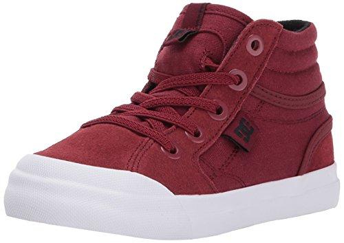 DC Boys' Youth Evan Hi Skate Shoes, Deep Red, 9 M US Toddler