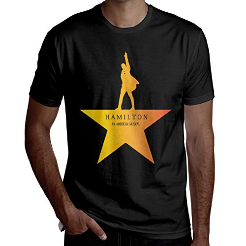 Hamilton Musical Love Men's ComfortSoft Active Athletic Short-Sleeve Crew Neck T Shirt 3XL Black ()
