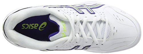 Gel Dedicate de Blue 3 Blanc Asics 0143 Femme White Silver Chaussures Tennis Clay Royal dpZgw