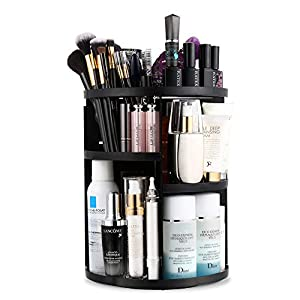 Jerrybox 360 Rotating Makeup Organizer, Vanity Organizers and Storage for Bedroom, Makeup Carousel Spinning Holder…