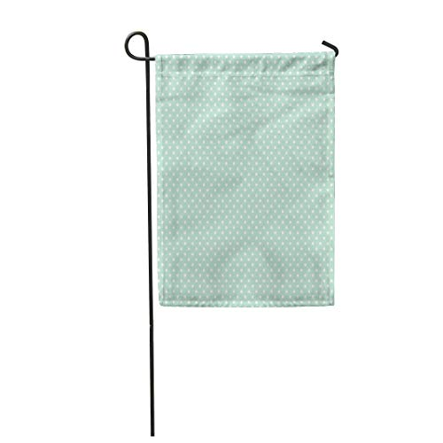 Tarolo Decoration Flag Blue White for Light Mint Polka Dots Pattern Green 300 Baner Digital Dpi High Thick Fabric Double Sided Home Garden Flag 12