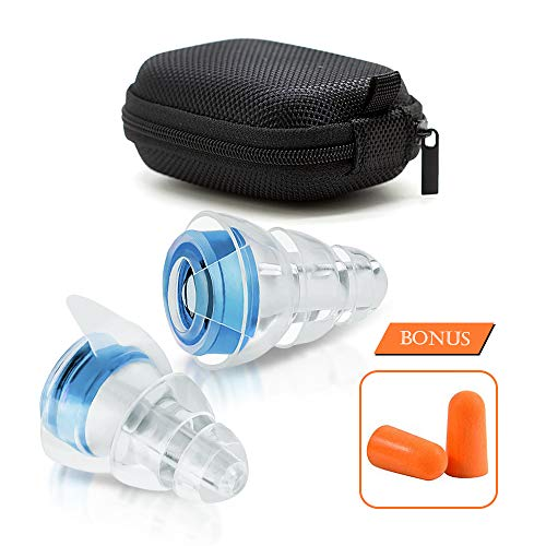 (High-Fidelity Earplugs Noise Reduction Filter Hearing Protection Earplugs for Concerts KTV Traffic Sounds and More Noise Sensitivity Conditions Ear Plugs for Sleeping((Size L) VZ SPORT MATE)