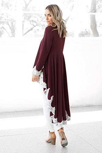 Tunique Dress Ourlet Maxi en ASSKDAN Cocktail de Fleur Robe Rouge Maxi Evas Femme Robe Robe Dentelle Irrgulier Vin Bal AqxXgHpw