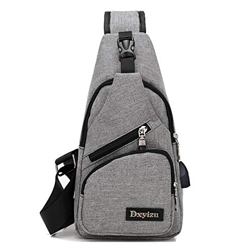 Amazon.com: 2018 USB UniDesign Sling Bag Large Capacity Handbag Crossbody Rucksack Daypack Canvas Fashion Man Chest Pack: Kitchen & Dining