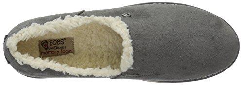Skechers Bobs Da Donna Bobs Alpino Nero Diamante Accogliente Pantofola Grigio