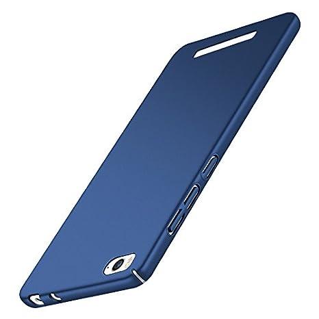 Funda Xiaomi Mi4c Mi 4C, Caso con [Protector de Pantalla de Cristal Templado] [Ultra-Delgado] [Ligera] Anti-Rasguño y Anti-Huellas Dactilares ...