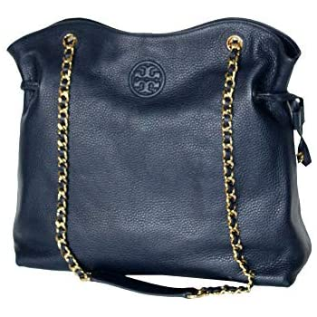 8f2d51463221 Tory Burch Handbag Leather Bombe Slouchy Women s Tote 50650 (Tory Navy)
