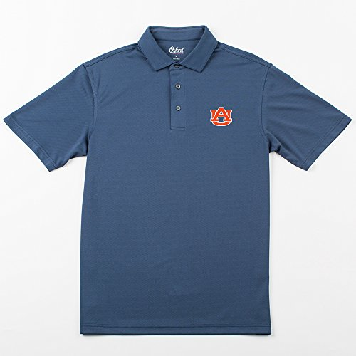 Oxford NCAA Auburn Tigers Adult Men Houston Performance Polo,X-Large,Classic Navy