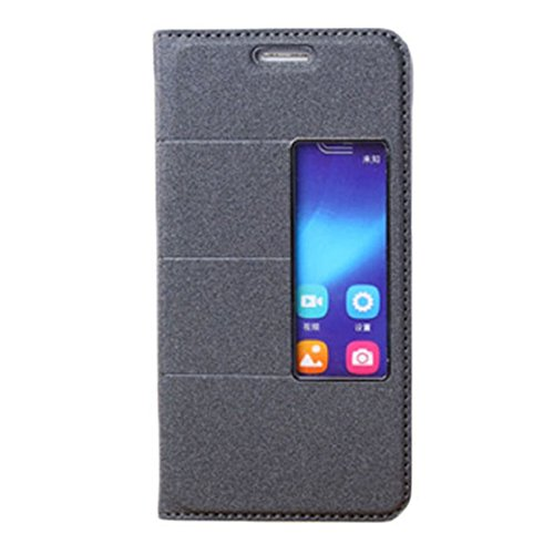 TOOPOOT(TM) Flip Stand Magnetic Leather Cover Skin Case For Huawei Honor 6 (Black)