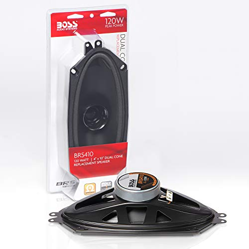 BOSS Audio BRS410 120 Watt, 4 x 10 Inch, Full Range, Replacement Car Speaker (Sold Individually)