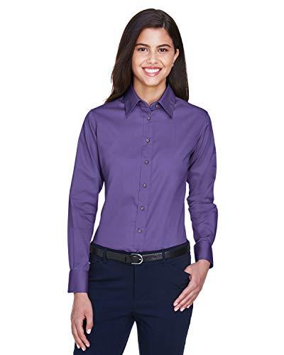 Donna Harriton A Maniche Da Purple Stain Camicia Team Lunghe Release Twill xxnf5r4w7q