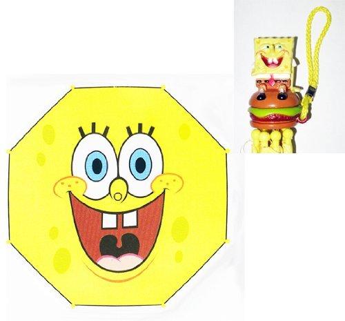 Spongebob Squarepants Smile Collapsible Umbrella With 3D (Spongebob Umbrella)
