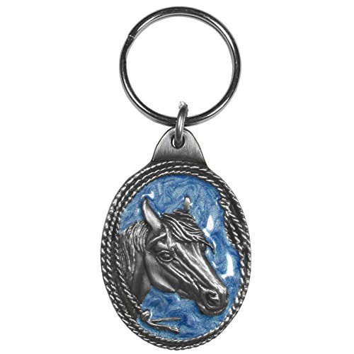 Siskiyou Automotive KR113E Metal Key Chain (Horse Profile with Rope Border Enameled Details) ()
