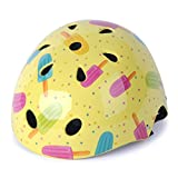 WIN.MAX WinMax Multi-sport Skateboarding Skating & Cycling Safety Bike Helmet for Kids (Yellow, with Pattern, S)