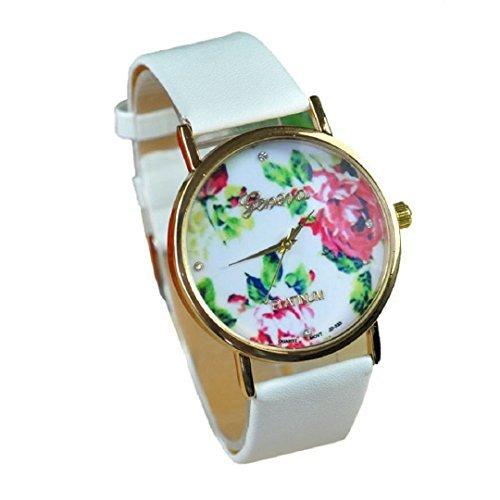 New Fashion GENEVA Rose Flower Watch for Women Quartz Dress Watch