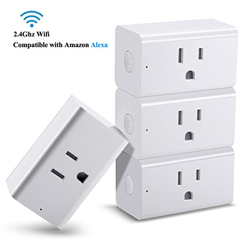 Soulbay 4 Pack Smart Plug  Wi Fi Enabled Mini Outlet Socket With Timer Function  No Hub Required  Works With Amazon Alexa Echo  Google Home  Ifttt   For Smart House   Smart Life
