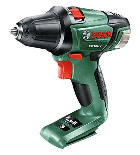 """Bosch Perceuse-visseuse """"Expert"""" sans fil PSR 18 LI-2 outil seul sans batterie, technologie Syneon 0603973302"""