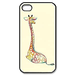 @ALL Giraffe Design Cover Case For Iphone 5 and 5S(Black) with Best Plastic