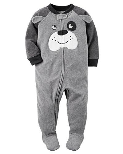 Carter's Boys' 12M-4T One Piece Dog Fleece Pajamas 4T ()