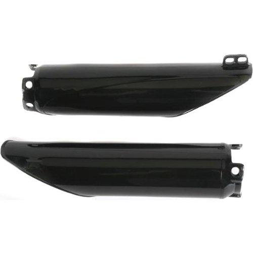UFO Plastics FRK SLDR BK KX1/2/5 96-02 Body Plastics Fork Slider Protectors BLK KX125/250/500 (96-98) - KA03704-001