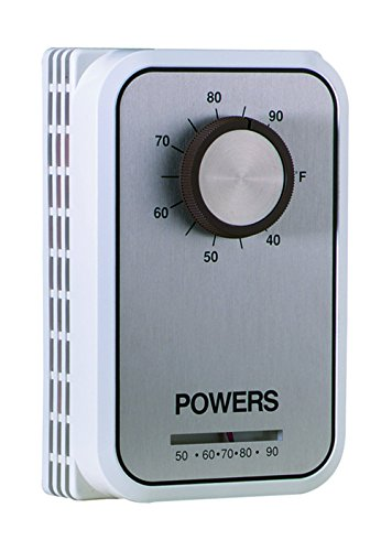 Siemens 134-1084 Heating/Cooling Line Voltage Room Thermostat with Set Point Knob, Beige