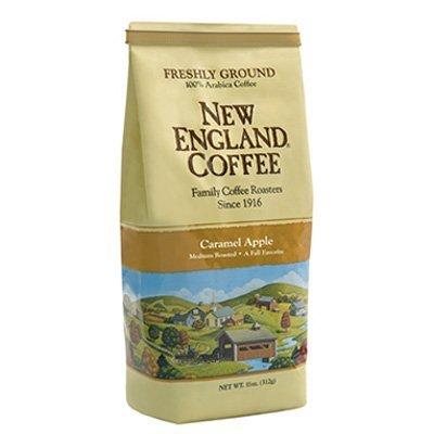 new-england-coffee-ground-medium-roast-caramel-apple-flavor-11-ounce