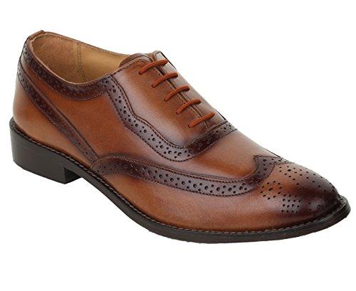 Liberty Leather Wingtip Oxford Dress Shoe 12 Tan