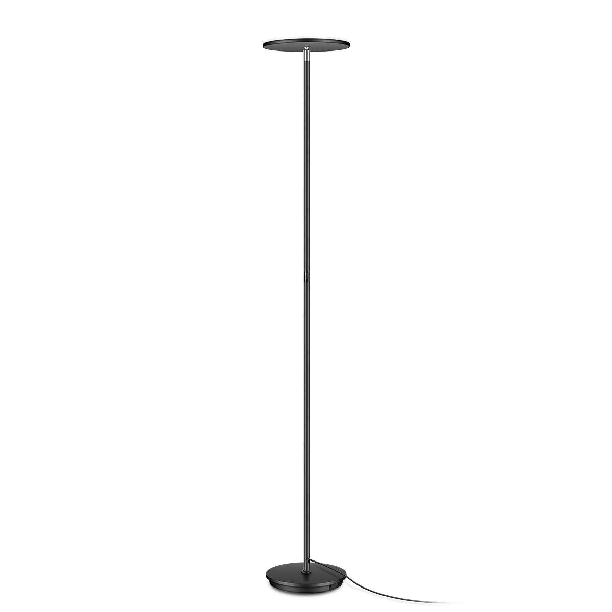 IESTARING LED Torchiere Floor Lamp-Tall Standing Modern Pole Light for Living Rooms & Offices-Adjustable Warm to Cool White Dimmable Uplight,Black