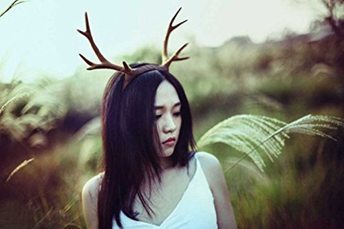 Steampunk Halloween Antlers Brown Deer Horns Hair Band
